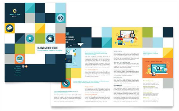 professional design company brochure