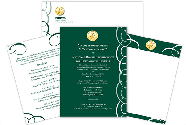 professional event invitation wording