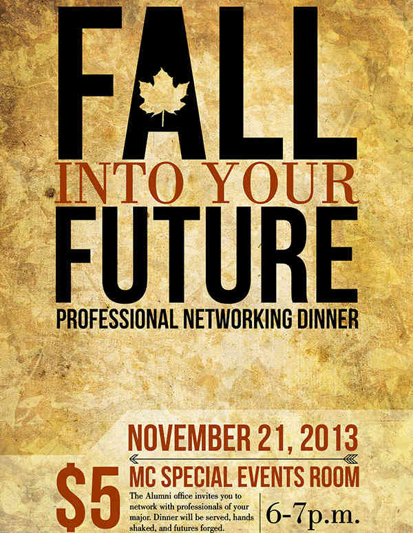 professional networking dinner event poster