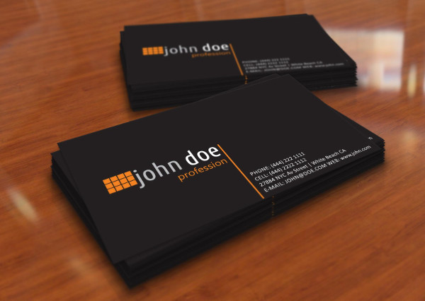 professional personal business card