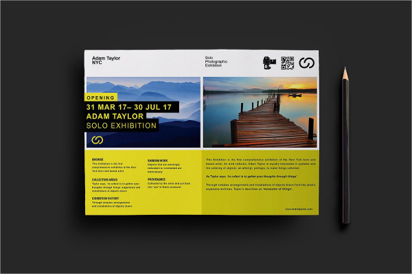 professional photography exhibition flyer