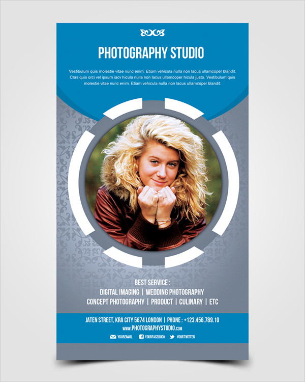 professional photography studio flyer