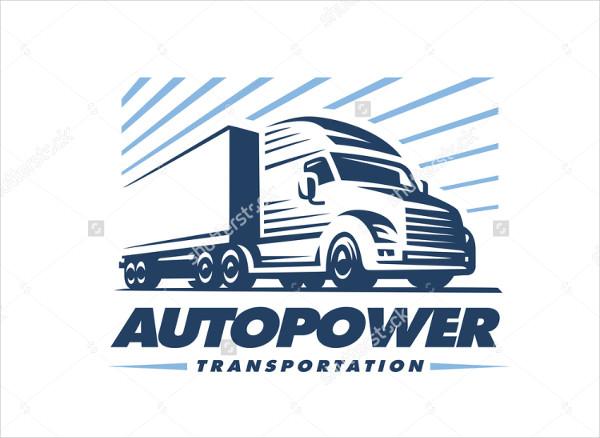 professional trucking company logo