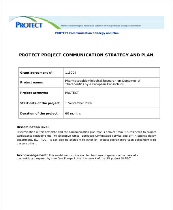 project strategic communication plan