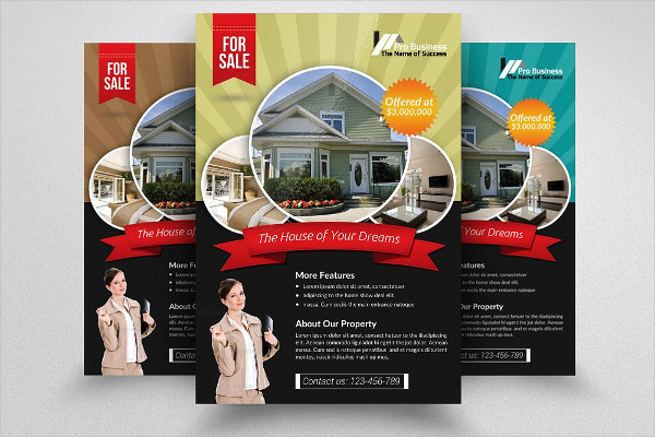 real estate agency business flyer
