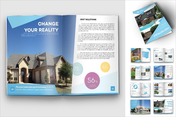 real estate agent bi fold brochure