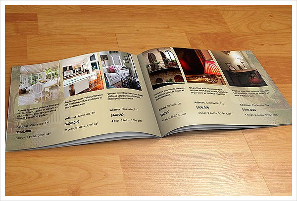 real estate agent marketing brochure