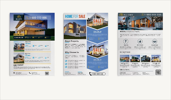 real estate business a4 flyer