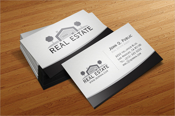 real estate business card logo