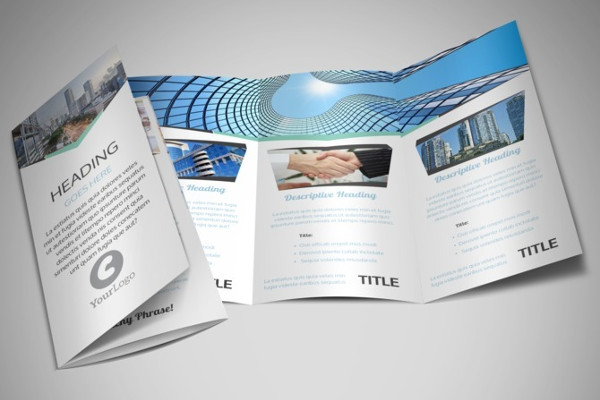 real estate business tri fold brochure