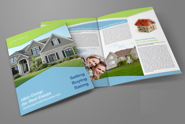 real estate company bi fold brochure