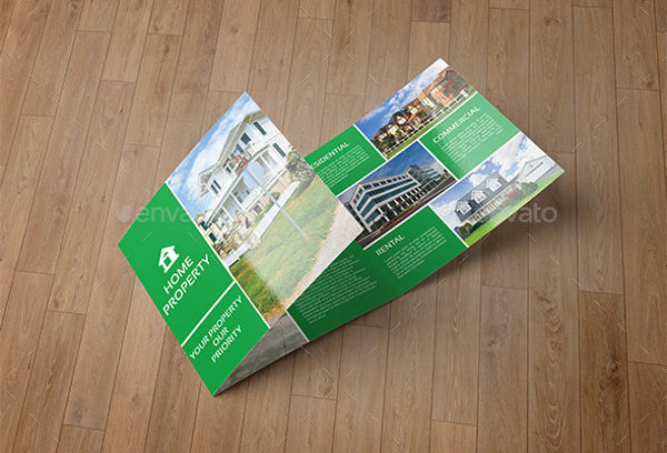 real estate company square brochure