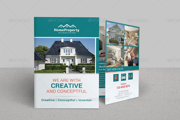 real estate portfolio bi fold brochure