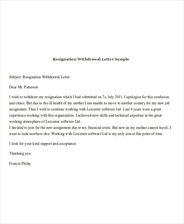 Resignation Acceptance Letter Sample Pdf