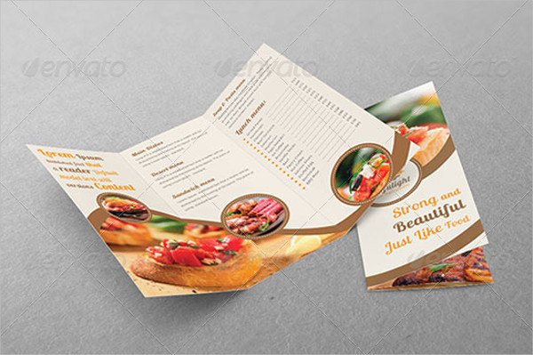 restaurant business tri fold brochure