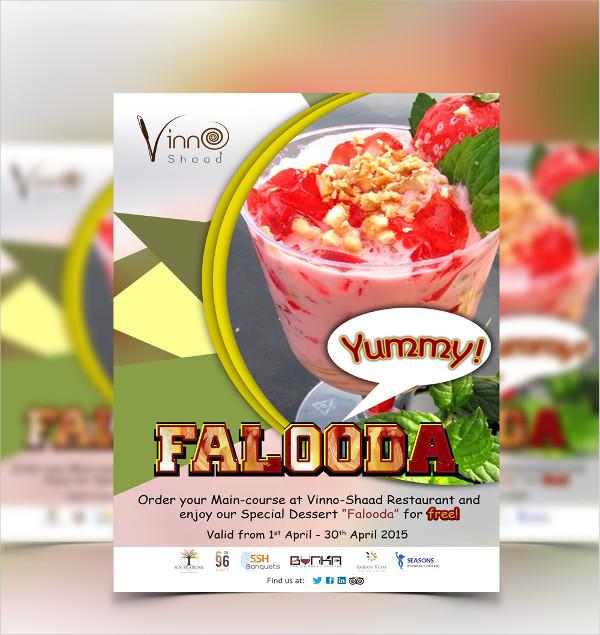restaurant food photography flyer