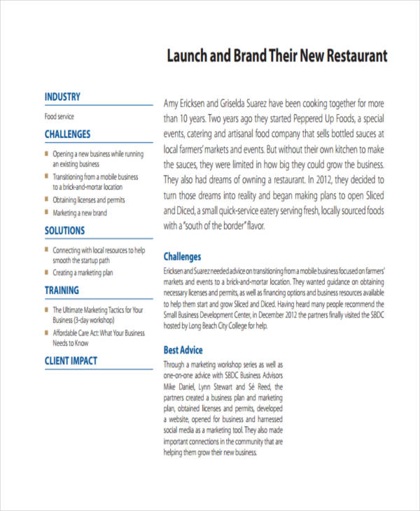 Restaurant Marketing Proposal Letter  Best Market