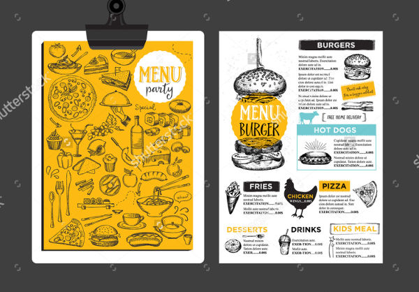 -Restaurant Menu Brochure