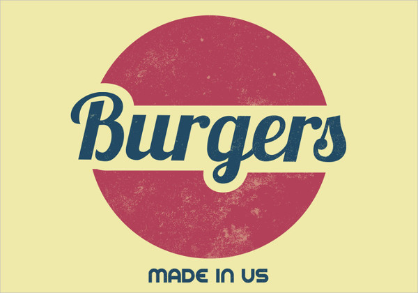 retro burger restaurant logo