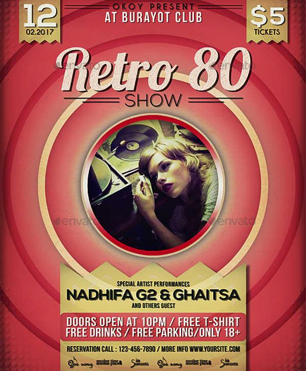 -Retro Music Event Flyer