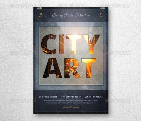 retro photography promotion flyer