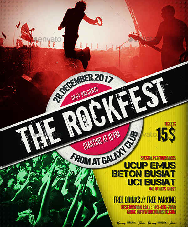 rock music event flyer
