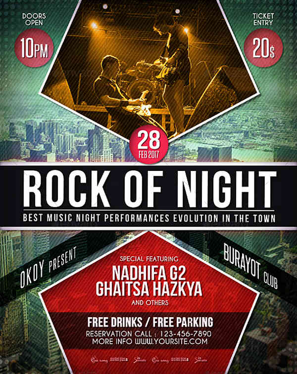 rock music event poster