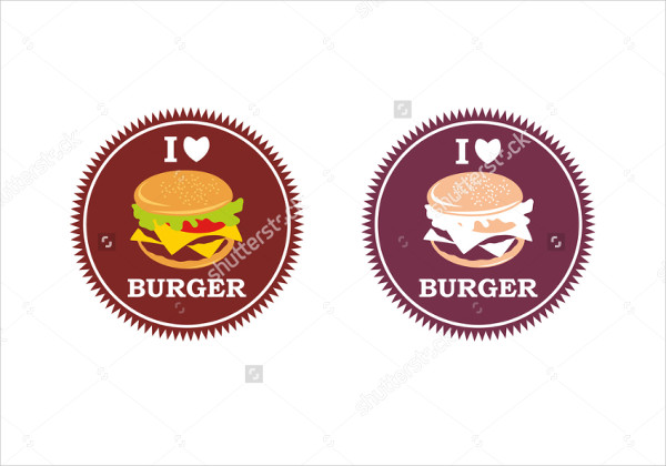 round burger restaurant logo