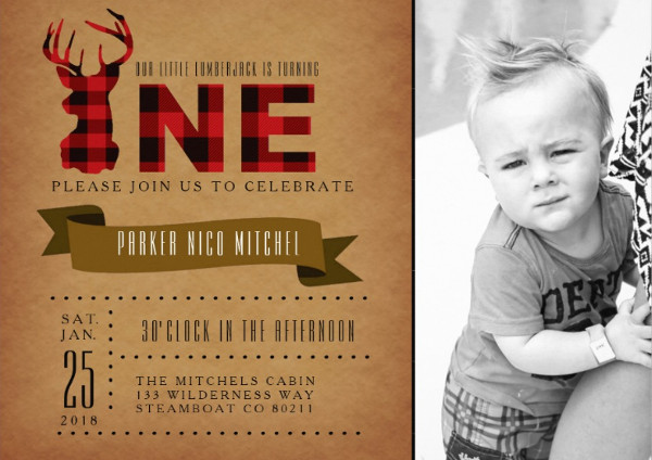 rustic birthday party invitation