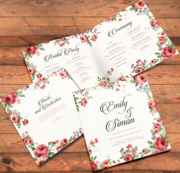 rustic floral wedding card