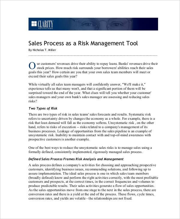 sales process risk assessment