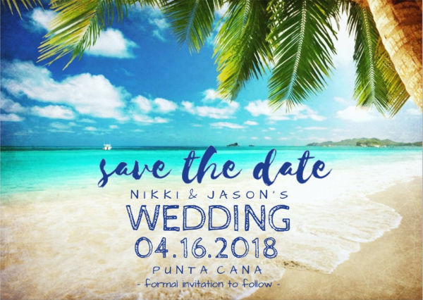 save the date destination wedding invitation