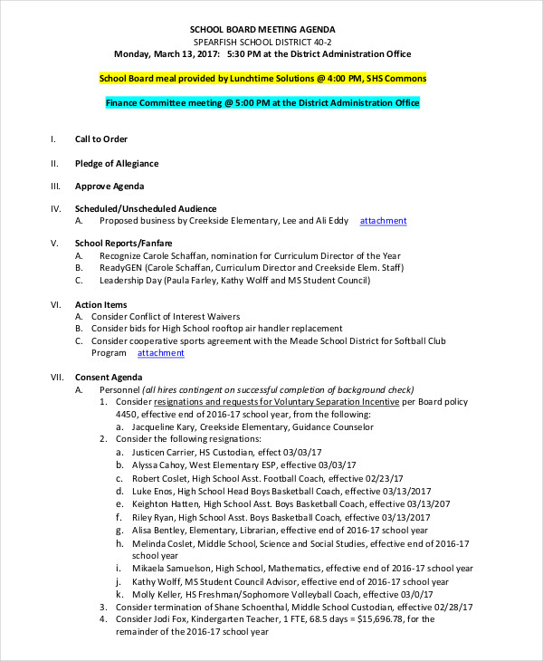 church leadership meeting agenda pdf