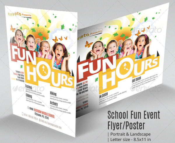 school fun event flyer