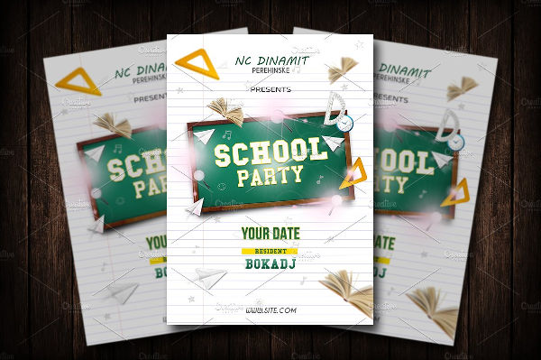 school party event flyer