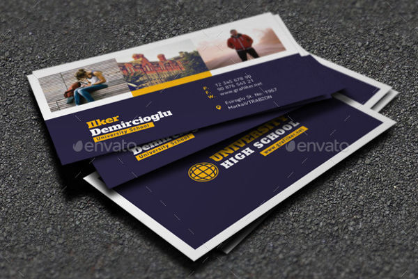 school student business card