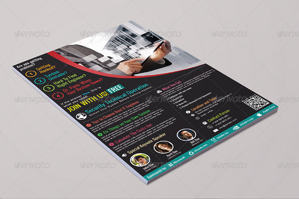 -Security Seminar Event Flyer