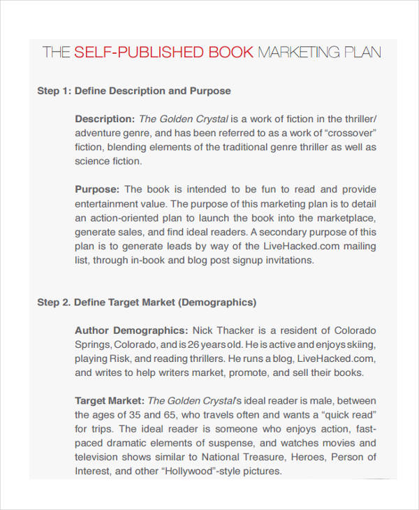 self publishing marketing plan