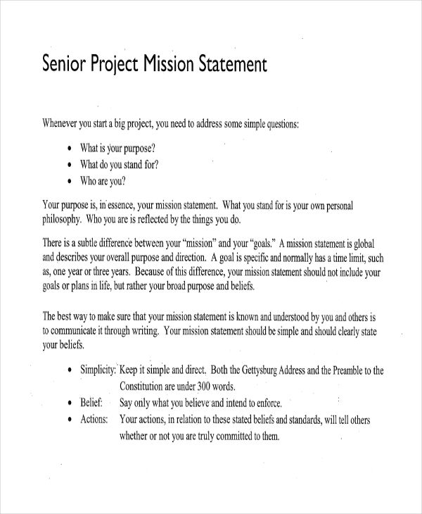 Mission Statement Examples