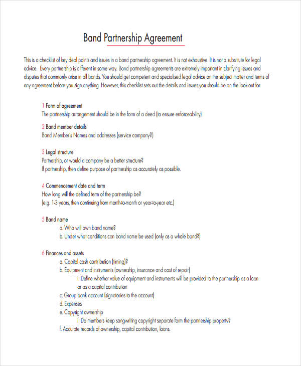60  examples of partnership agreements