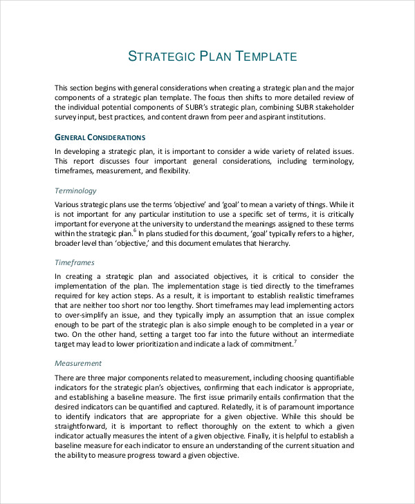 46 Examples of Strategic Plans