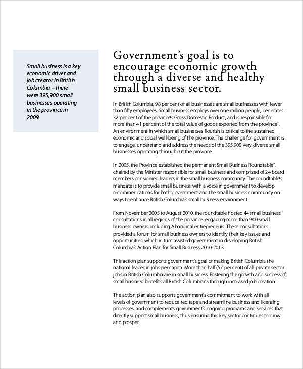 small business action plan