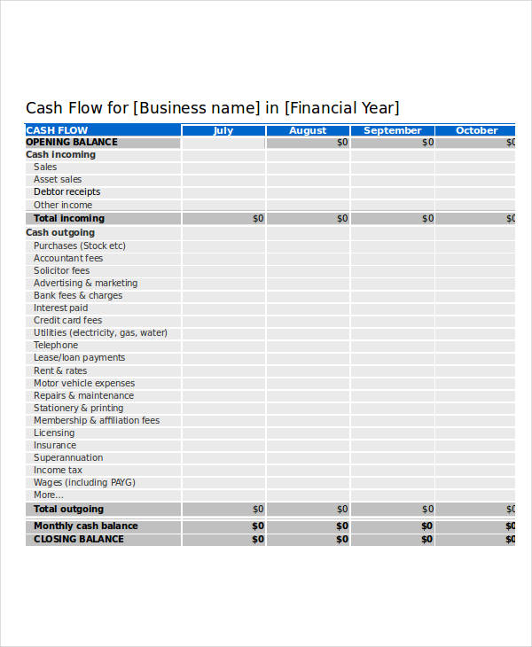 26  cash flow statement examples  u0026 samples