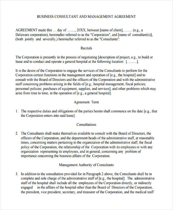 small business management agreement1