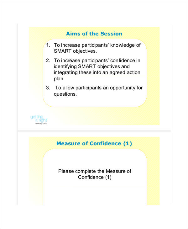 smart objectives action plan