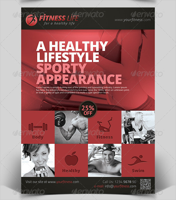 Sports/Fitness Marketing Flyer