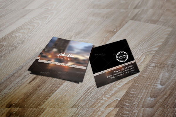 -Square Photography Business Card