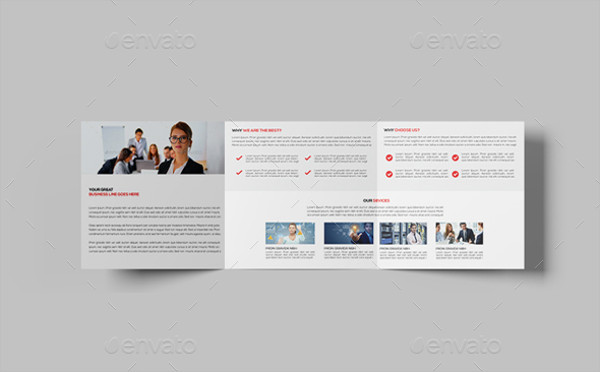 square corporate tri fold brochure