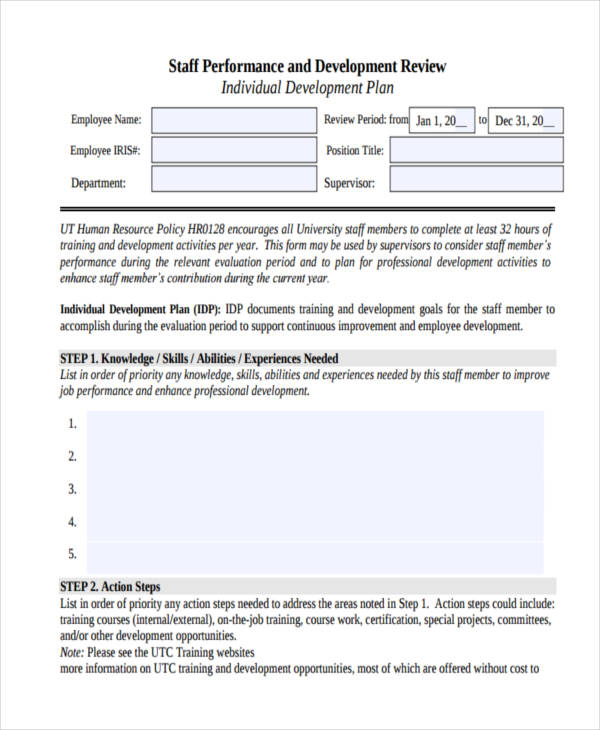 56 Development Plan Examples Samples Pdf Word Pages