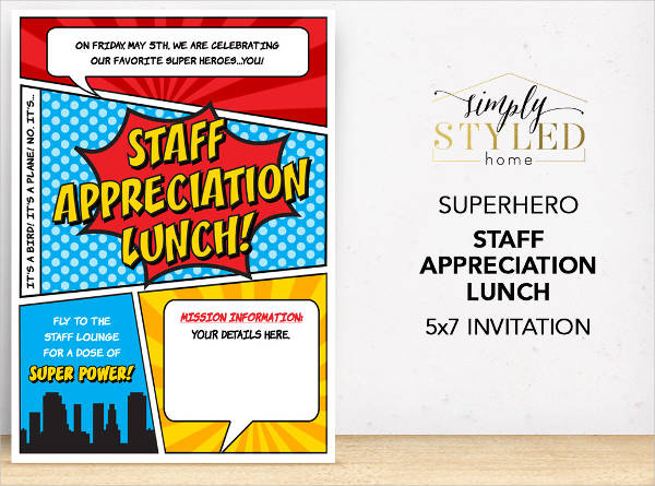 Staff Lunch Invitation